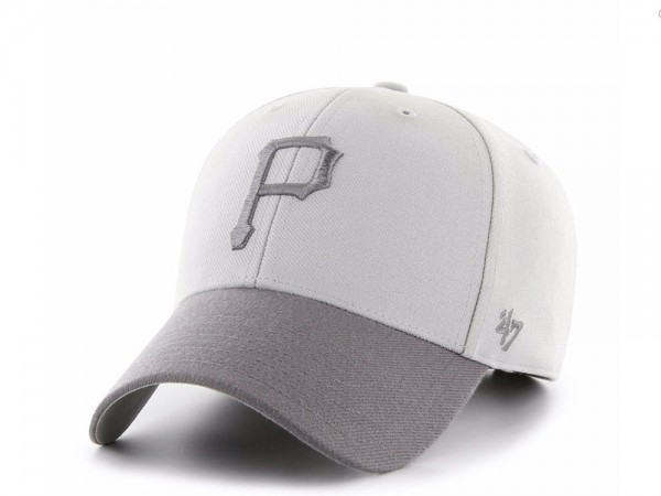 47Brand Pittsburgh Pirates Steel Grey MVP Snapback Cap
