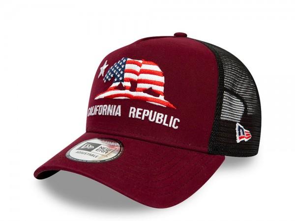 New Era Cali Trucker Maroon Snapback Cap