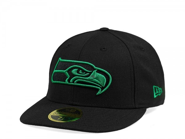 New Era Seattle Seahawks Black and Green Edition Low Profile 59Fifty Fitted Cap