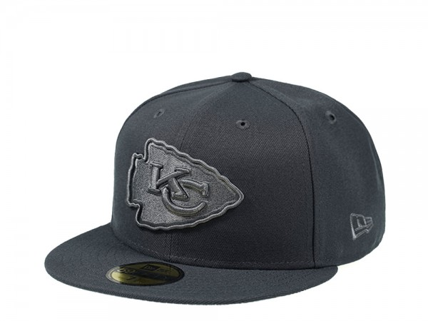 New Era Kansas City Chiefs All Graphite Edition 59Fifty Fitted Cap