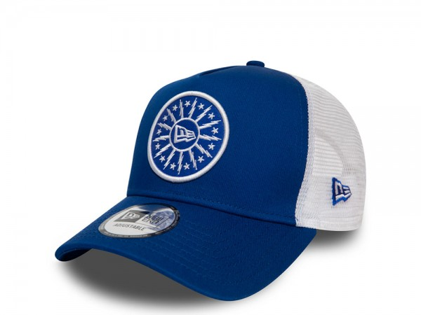 New Era NE Star Patch Blue A Frame Trucker Cap