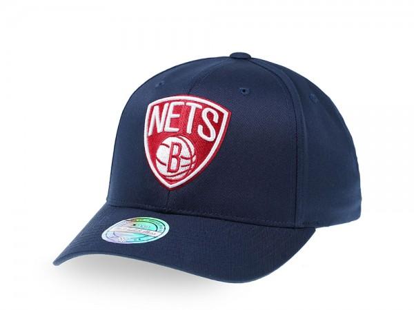 Mitchell & Ness Brooklyn Nets Navy Red Edition 110 Flex Snapback Cap