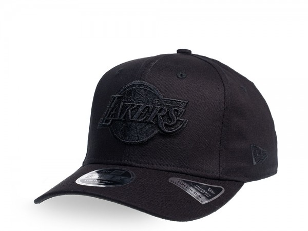 New Era Los Angeles Lakers Team Black on Black 9Fifty Stretch Snapback Cap