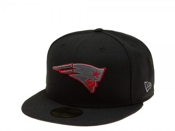 New Era New England Patriots Red Graphite 59Fifty Fitted Cap