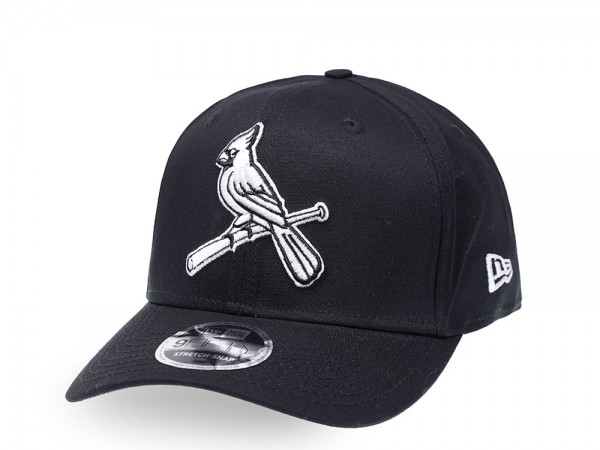 New Era St. Louis Cardinals Black and White 9Fifty Stretch Snapback Cap
