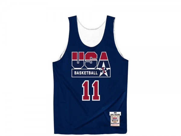 Mitchell & Ness Dream Team - Karl Malone Authentic Reversible Practice Jersey