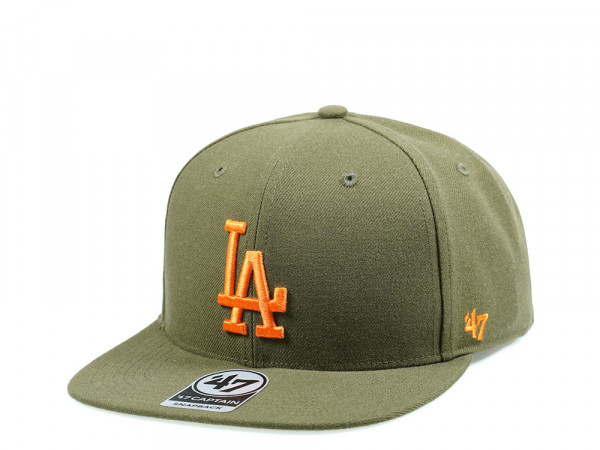 47Brand Los Angeles Dodgers Olive No Shot Captain Snapback Cap