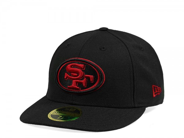 New Era San Francisco 49ers All About Black Edition Low Profile 59Fifty Fitted Cap
