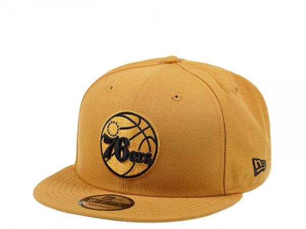 New Era Philadelphia 76ers Panama Tan Edition 9Fifty Snapback Cap