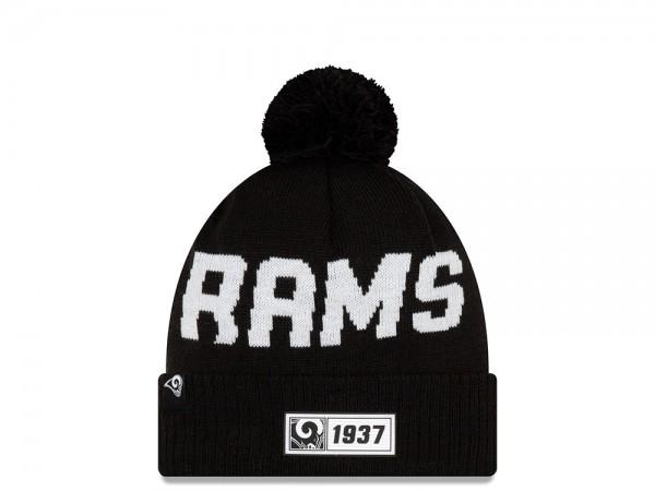 New Era Los Angeles Rams Sideline 2019 Road Black Mütze
