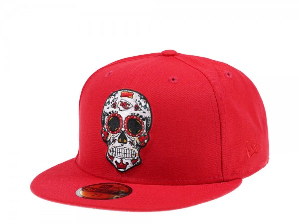 New Era Kansas City Chiefs Skull Edition 59Fifty Fitted Cap