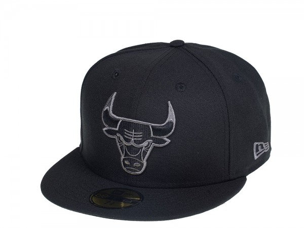 New Era Chicago Bulls Dark Gray Edition 59Fifty Fitted Cap