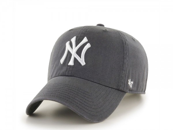 47Brand New York Yankees Clean Up Graphite Strapback Cap
