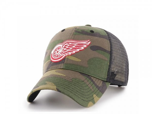 47brand Detroit Red Wings MVP Trucker camo Snapback Cap
