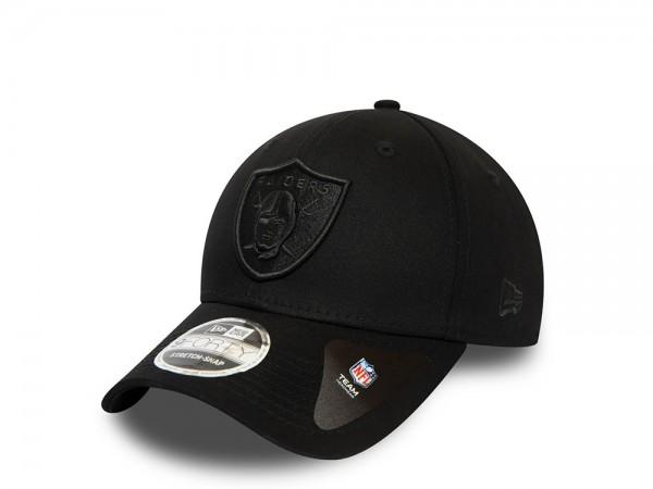 New Era Las Vegas Raiders All Black 9Forty Stretch Snapback Cap