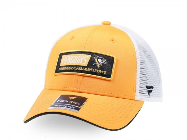 Fanatics Pittsburgh Penguins Yellow Iconic Trucker Snapback Cap