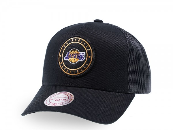 Mitchell & Ness Los Angeles Lakers Gold Circle Patch Trucker Cap