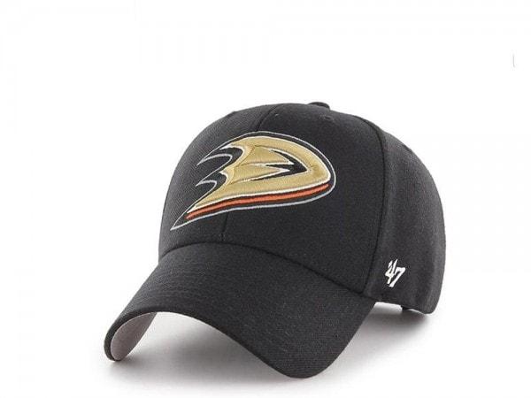 47brand Anaheim Ducks Current Logo MVP Black Strapback Cap