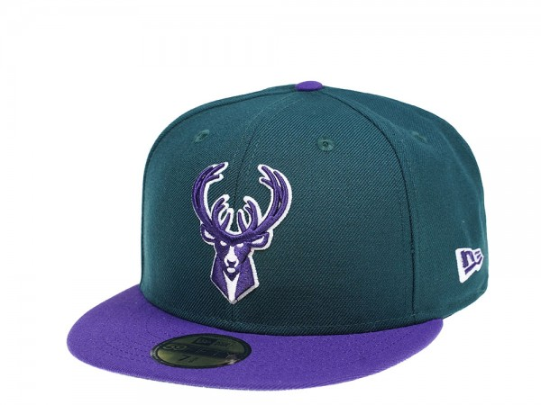 New Era Milwaukee Bucks Dark Green Edition 59Fifty Fitted Cap