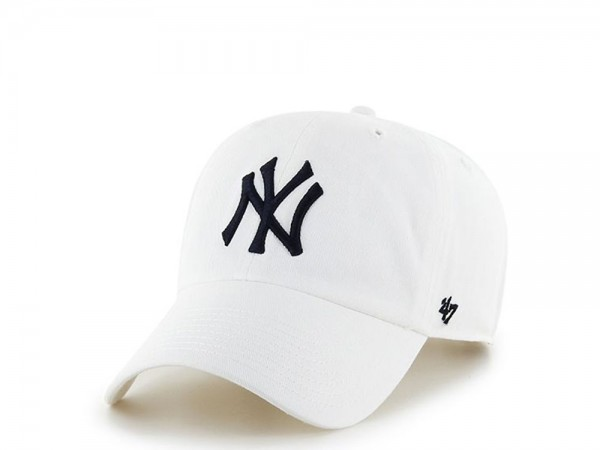 47Brand New York Yankees Clean Up White Strapback Cap