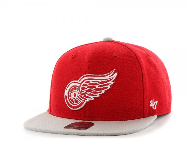 47Brand Detroit Red Wings Sure Shot Captain Two Tone Snapback Cap