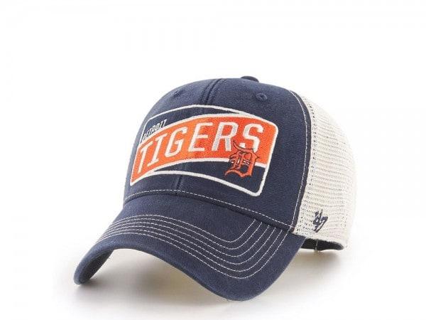 47Brand Detroit Tigers Slash Patch MVP Trucker Snapback Cap