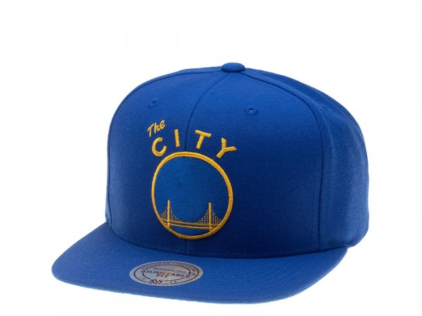 Mitchell & Ness Golden State Warriors Wool Solid Snapback Cap