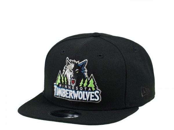 New Era Minnesota Timberwolves Original Fit Black Edition 9Fifty Snapback Cap