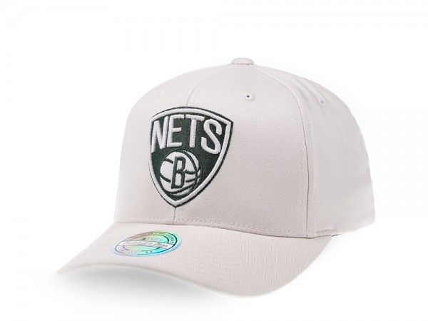 Mitchell & Ness Brooklyn Nets Stone White Edition 110 Flex Snapback Cap