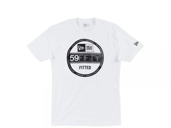 New Era 59fifty Visor Sticker T-Shirt weiß