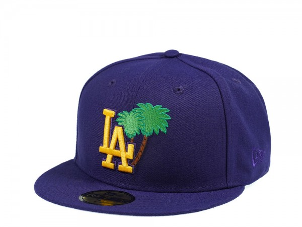 New Era Los Angeles Dodgers Palm Tree Edtion Purple 59Fifty Fitted Cap