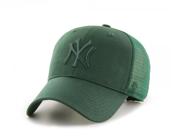 47Brand New York Yankees Tonal Green MVP Trucker Snapback Cap