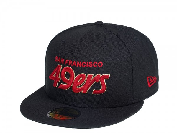 New Era San Francisco 49ers Script Edition 59Fifty Fitted Cap