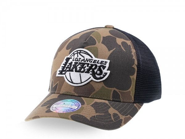 Mitchell & Ness Los Angeles Lakers Camo Trucker Cap