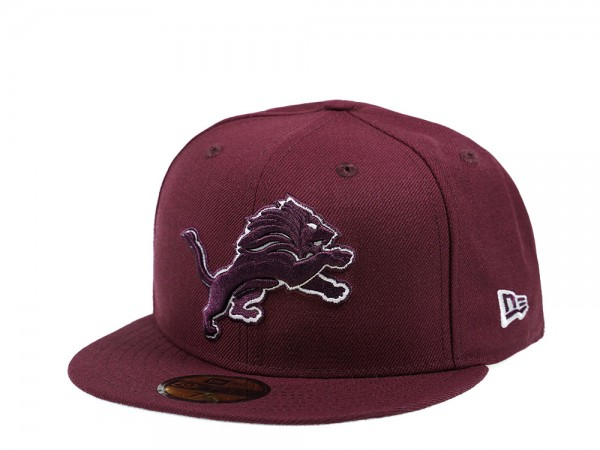 New Era Detroit Lions Maroon Edition 59Fifty Fitted Cap