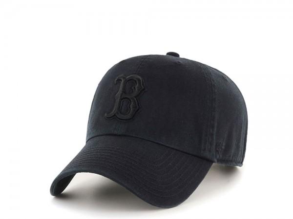 47Brand Boston Red Sox Clean Up All Black Strapback Cap
