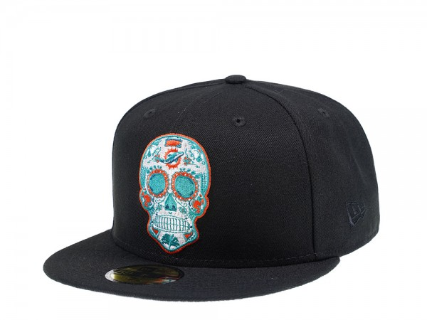 New Era Miami Dolphins Skull Edition 59Fifty Fitted Cap