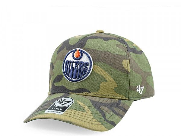 47Brand Edmonton Oilers Camo Grove MVP DT Snapback Cap