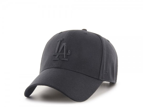 47Brand Los Angeles Dodgers All Black MVP Snapback Cap
