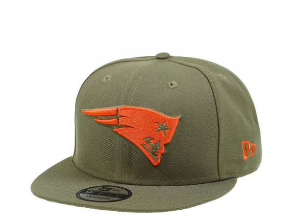 New Era New England Patriots Green x Orange Edition 9Fifty Snapback Cap