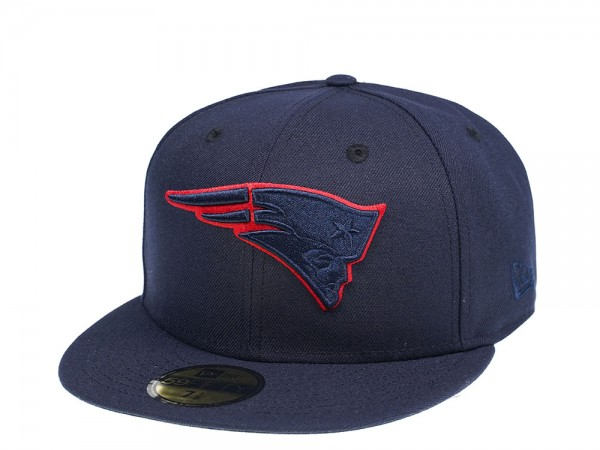 New Era New England Patriots Blue Tonal 59Fifty Fitted Cap
