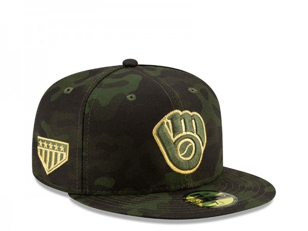 New Era Milwaukee Brewers Armed Forces Day On Field Fitted 59Fifty Cap