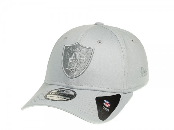 New Era Oakland Raiders Grey on Grey Stretch Fit 39Thirty Cap
