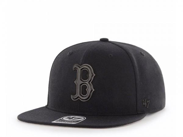 47brand Boston Red Sox Black Matte Captain Snapback Cap