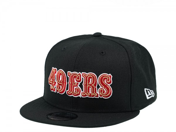 New Era San Francisco 49ers Red Script Edition 9Fifty Snapback Cap