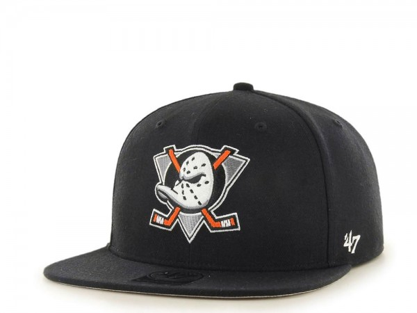 47brand Anaheim Ducks Black No Shot Captain Snapback Cap