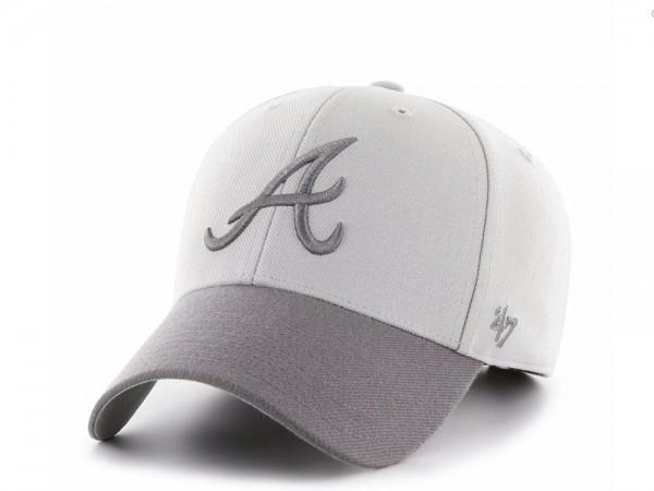 47Brand Atlanta Braves Steel Grey MVP Snapback Cap
