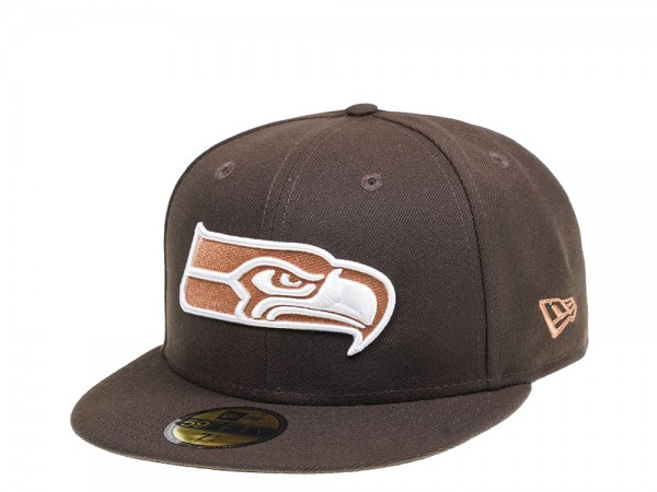 New Era Seattle Seahawks Walnut Edition 59Fifty Fitted Cap