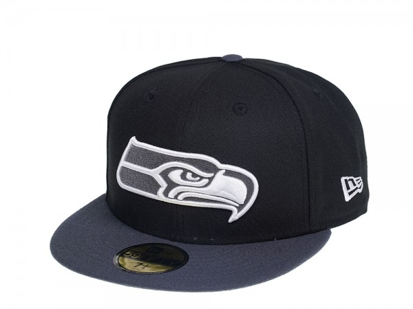New Era Seattle Seahawks Two Tone Gray  Edition 59Fifty Fitted Cap