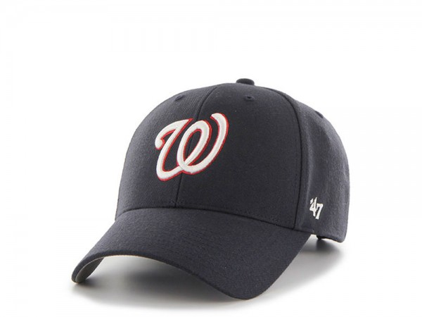 47Brand Washington Nationals Black MVP Strapback Cap